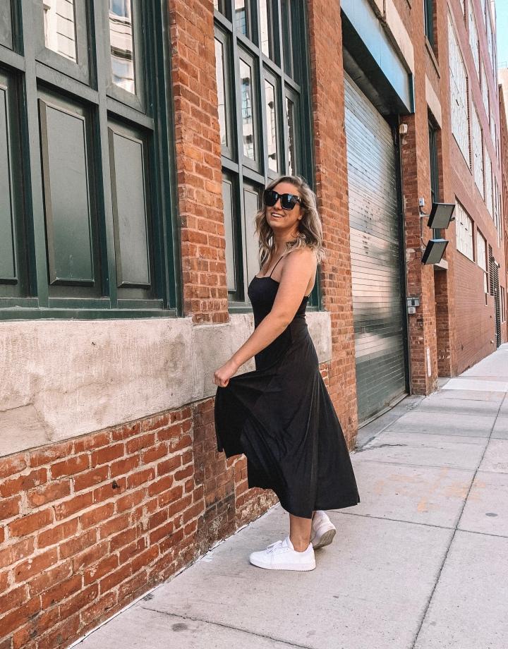 Black Midi Dress 3Ways